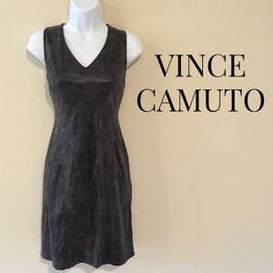 Vince Camuto Seamed Faux Leather Sheath
